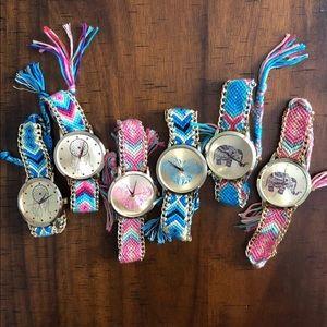 Boho Woven bracelet watch